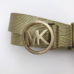 Michael Kors | Leather Logo Charm Buckle Belt XL